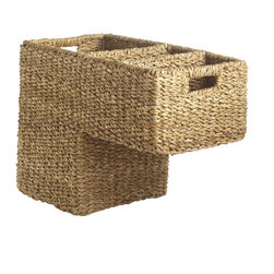 Stair Step Basket - Stair organizers are such a great idea. No more piles on the stairs needing to be put away.