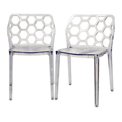 Honeycomb Modern Dining Chair (Set of 2)