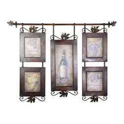 Uttermost - Uttermost Hanging Wine Framed Art - 50791 - Uttermost Hanging Wine Framed Art - 50791