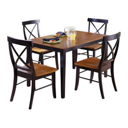 International Concepts - International Concepts 5 Psc X-Back Chairs Dining Set in Black Cherry - International Concepts - Dining Sets - K573048C6134 - This 5 piece Dining set is made of solid wood and will last you a very long time. Not only is it durable it is also beautiful and will enhance your decor whether you live in a house or a condo.