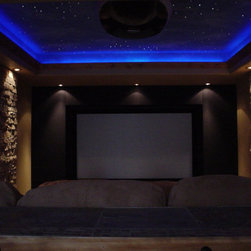 Star Ceilings - Fiber Optic Star Ceilings are a beautiful addition to a home theater, master bedroom/bath or kids room.  We can even install your family constellations and create shooting stars!