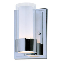 Maxim Lighting - Maxim Lighting 23071CLFTPC Single Light Wall Sconce - The Silo collection makes artful use of thin-profile rectangular tubing with a mirror-like Polished Chrome finish for a clean, contemporary look.