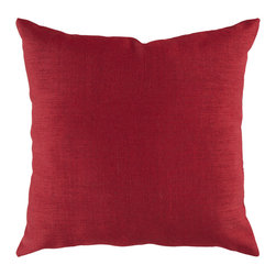 "Surya - Lumbar Pillow ZZ-407 - 22"" x 22"" - Looking for a piece that surpasses current trend and will remain timeless in your indoor or outdoor space for years to come? This is the pillow for you. Featuring a functional solid coloring in cool crimson, this piece fashions a sophisticated, simple look that easily translates from room to room. This pillow provides a reliable and affordable solution to updating your indoor or outdoor decor."