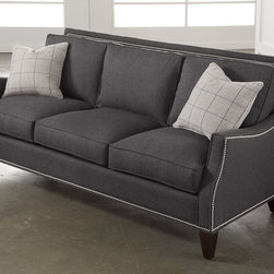 Libby Langdon Collection Haynes Sofa - Nailhead trim and gray fabric? Consider this my dream sofa.
