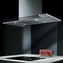 """Elica - ETWX42SS Twin Optica Series 42"""" Island Chimney Range Hood  Optional Internal/In- - An island that emits light and inspires air The intangible takes on physical features and enters into a relationship with the surrounding space Providing the essential function of protecting our everyday actions And our breathing"""