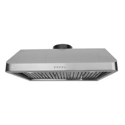 Super thick 1.0mm, Non-Magnetic / Rustproof commercial grade high quality stainl - XtremeAIR 36 Inch Under Cabinet Stainless Steel Range Hood UL10-U36 - XtremeAIR 36 Inch Under Cabinet Range Hood with 900 CFM Dual Blower, Stainless Steel Baffle Filters, Stainless Steel Oil Capture Tunnel, 3-speeds mechanical EZ push buttons, two x 2W energy efficient Led lights.