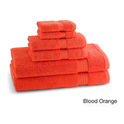 None - Egyptian Cotton Brights Collection 6-piece Towel Set - With 625 GSM construction,these towels are strong and hard-wearing,perfect for every day use. Each towel has a convenient hanger loop for ease of storage after use.