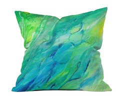 DENY Designs - Rosie Brown The Sea Throw Pillow - Wanna transform a serious room into a fun, inviting space? Looking to complete a room full of solids with a unique print? Need to add a pop of color to your dull, lackluster space? Accomplish all of the above with one simple, yet powerful home accessory we like to call the DENY throw pillow collection! Custom printed in the USA for every order.