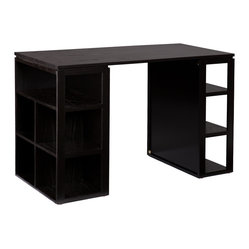 Holly & Martin - Kayden Desk - Add a beautiful, organized workspace to your home with this handsome, black desk. Capture your creativity and make the most of work or play with outstanding addition to your home office.