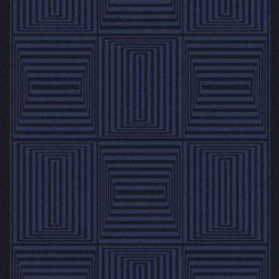 """Surya - Surya Mystique M-5351 3'3"""" x 5'3"""" Navy Rug - Combining centuries old """"hand looming"""" techniques with the finest colors, we have created these crisp and casual designs. Handcrafted in India from 100% wool, teams of craftsmen work traditional shuttle looms to create these unique rugs. Each piece is then painstakingly hand finished, hand carved and detailed."""