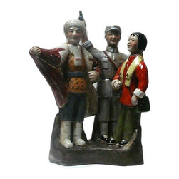 "Golden Lotus - Chinese Cultural Revolution Mao Period Movement Figure - Dimensions:   w10"" x d8"" x h13"""