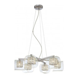 George Kovacs - Jewel Box 6-Light Chandelier - If you like luxury, you'll want this chandelier in your home. Hung in a stairwell, entryway or dining room your friends will be amazed at your cleverness. After all, who doesn't like jewel boxes?