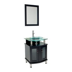 Fresca - Fresca FVN3312ES Contento 24 Inches Espresso Modern Bathroom Vanity With Mirror - Fresca FVN3312ES Contento 24 Inches Espresso Modern Bathroom Vanity With Mirror