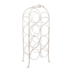 True Fabrications - Metal Arch Wine Rack - Perfectly sized for eight bottles of the best vintage vino, this wine rack adds instant interest to a carefully kept kitchen.   10.4'' W x 24.8'' H x 6.9'' D Holds eight bottles Metal Imported