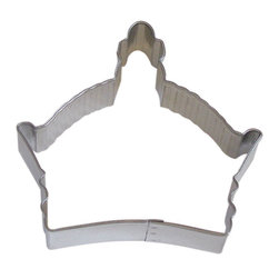 """RM - Byzantine Crown 3.5 In. B0896 - Byzantine Crown cookie cutter, made of sturdy tin, Size 3.5"""" wide by 3"""" tall in the middle. Depth 7/8 in., Color silver."""
