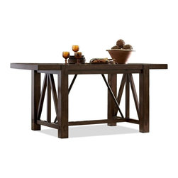 Riverside Furniture - Castlewood Gathering Table - Counter stools sold separately.