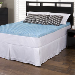 Slumber Solutions - Slumber Solutions Gel Highloft 2-inch Memory Foam Mattress Topper - Sleep like a king with this revolutionary gel full-sized memory-foam mattress topper. This gel memory-foam mattress topper has a unique dual-sided design that allows it to provide your body with the ultimate in support while you enjoy a restful sleep.