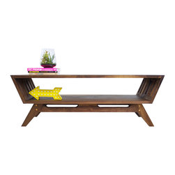 ModernCre8ve - The April Midcentury Solid Black Walnut Coffee Table - Original design.