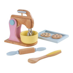 KidKraft - Pastel Baking Set by Kidkraft - Baking fresh cookies is always a great activity for parents to share with their children. Now, with our Pastel Baking Set, the young chefs in your life can do all the work themselves! These wooden 6 piece sets are so detailed that you'll swear you smell the chocolate chips.