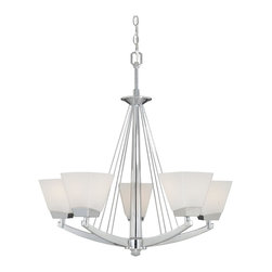 Vaxcel - Chu005 Kendall Five Light Up Lighting Chandelier - For over 20 years, Vaxcel International has been a premier supplier of residential lighting products. Their product offering ranges from builder-ready fixtures and ceiling fans to designer chandeliers and lamps, in the latest styles and finishes.