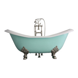 "Penhaglion - 'The Dunstable' 73"" Long Cast Iron Bathtub Package from Penhaglion - Product Details"