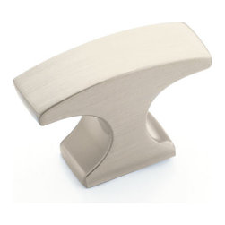 Conrad T Knob - Strong edges and contemporary finishes make the Conrad T Knob perfect for contemporary and transitional kitchen and bath decors. Complete the look with other Conrad hardware items.