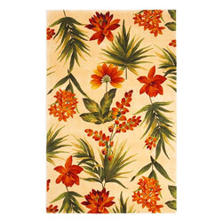 """KAS - Catalina Tropical Flora 780 Ivory Rug by Kas - 5 ft 6 in Rnd - One of Kas's finest collections comes the Catalina Collection. Hand tufted and hand carved of gorgeous wool, each rug offers fantastic floral patterns and color schemes. Their use of vibrant and direct colors is guaranteed to provide the """"pop"""" you are looking for. If you are in the market for a wonderful floral style rug, look no further than the Catalina Collection."""