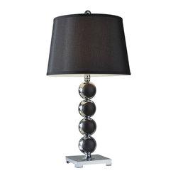 Murray Feiss - Murray Feiss 10254CH/BK 1 Bulb Chrome / Black Table Lamp - Murray Feiss 10254CH/BK 1 Bulb Chrome / Black Table Lamp