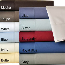 None - Egyptian Cotton 600 Thread Count Sheet Set With Bonus Pillowcases (6-piece set) - Sleep in Comfort and Style with this luxurious 600 Thread Count Cotton Sateen Bonus Sheet Set. These sheet sets are a beautiful addition to any bedroom. Choose from one of eleven colors to complement your bedding.
