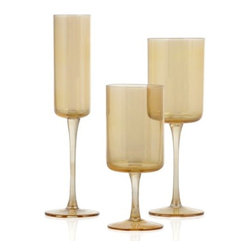 Z Gallerie - Laurel Stemware - Sets of 4 - Make the most of your year round entertaining by serving drinks in our understated yet classic Laurel Stemware. Clean lines and a translucent gold luster elevate our Laurel Stemware, making it an excellent choice for a variety of décor settings. Crafted out of gold luster optic glass, long clean-lined stems make for a stunning silhouette. Sold separately as a set of four.