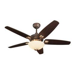 """Monte Carlo - Monte Carlo Versio II Five Blade 44"""" Blade Span Indoor Ceiling Fan - Features:"""