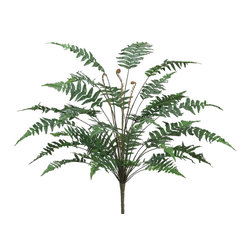 Silk Plants Direct - Silk Plants Direct Forest Fern Bush (Pack of 6) - Silk Plants Direct specializes in manufacturing, design and supply of the most life-like, premium quality artificial plants, trees, flowers, arrangements, topiaries and containers for home, office and commercial use. Our Forest Fern Bush includes the following: