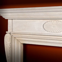 Fireplace Collection - The Georgian - This hand-carved stone mantel and surround design dates to 18th century England. The Georgian style demonstrates a grace of line and beauty of contour.
