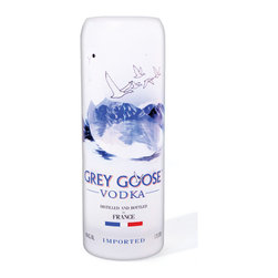 Bottles & Wood - Grey Goose Vodka Vase - 1.75 Liter - Our Grey Goose vase is the perfect vessel to hold your flowers. Handcrafted from the 1.75 liter vodka bottle, this eco-friendly glass has a nice heavy base.