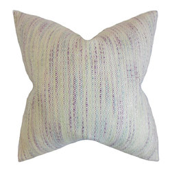 The Pillow Collection - Lakota Stripes Pillow, Plum - This elegant throw pillow adds a modern touch to your interiors.