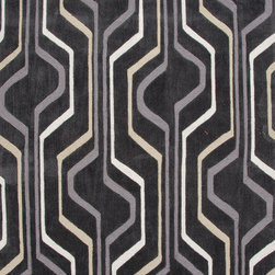 Jaipur Rugs - Modern Geometric Pattern Gray /Black Polyester Tufted Rug - BR42, 2x3 - A youthful spirit enlivens Esprit, a collection of contemporary rugs with joie de vivre! Punctuated by bold color and large-scale designs, this playful range packs a powerful design punch at a reasonable price.