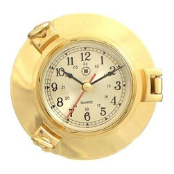 Bey-Berk International Brass Porthole Nautical Clock - Tarnish Proof - Batten down the hatches and prepare for good times, with the Bey-Berk International Brass Porthole Nautical Clock T.P.. This handsome timepiece with an analog quartz-movement features a solid brass, tarnish-proof porthole. Smooth sailing is in your future when you add this well-made clock to your home or office. About Bey-Berk InternationalThis quality item is created by Bey-Berk. For more than 20 years, Bey-Berk International has crafted and hand-selected unique gifts and accessories from around the world to meet the demands of discerning customers. With its line of elegant and distinctive products, Bey-Berk has established itself as a leader in luxury accessories.