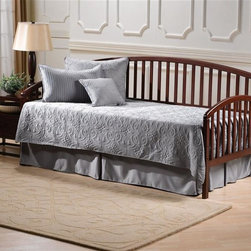 Hillsdale Furniture - Carolina Daybed in Cherry Finish - Includes Daybed and Suspension Deck. Mattress not included. Cherry Finish. Assembly Required. 79 in. W x 39 in. D x 36 in. HBeautifully understated, the Carolina Daybed is a lovely addition to any home. The simple styling offers versatility, complimenting any decor.