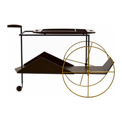 """Tea Trolley - """"JZ"""" tea trolley available in a variety of FSC-certified woods and steel. Produced by Etel, in Brazil."""