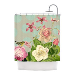 "Kess InHouse - Suzanne Carter ""Vintage Garden Cush"" Flowers Shower Curtain - Finally waterproof artwork for the bathroom, otherwise known as our limited edition Kess InHouse shower curtain. This shower curtain is so artistic and inventive, you'd better get used to dropping the soap. We're so lucky to have so many wonderful artists that you'll probably want to order more than one and switch them every season. You're sure to impress your guests with your bathroom gallery in addition to your loveable shower singing."