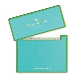 Kate Spade - kate spade All Occasion Card Set - Our All Occasion Notecards from kate spade new york keep you prepared to say hello, happy birthday, congratulations, thank you or ready to just send some love. Arrives in a kate spade signature gift box for storing.