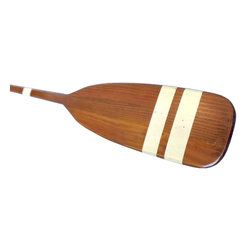 "Handcrafted Model Ships - Wooden Bay Area Touring Rowing Oar with Hooks 50"" - Nautical Decor - This Wooden Bay Area Rowing Oar with Hooks 50"" is the perfect decorative paddle to display proudly on your wall. Use this wooden oar with white stripes to give accent an open wall or to give as a nautical gift. Enjoy the competitive nautical style of this Bay Area Rowing Oar with Hooks 50"", indoors or out, and place it with pride."