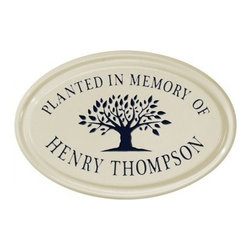 White Hall Tree Memorial Ceramic Oval Petite Wall Address Plaque - The White Hall Tree Memorial Ceramic Oval Petite Wall Address Plaque is a great way to add a thoughtful and attractive accent to any space. Made from durable ceramic, this plaque is easy to install and features 2 lines for text and an artful tree graphic. Choose from a variety of available color options to match your decor.About Whitehall ProductsWhitehall Products are known as the world's leading manufacturer of weathervanes and is equally as respected for their high quality personalized home wall plaques. They also offer a wide variety of mailboxes, garden accents, hose holders, birdbaths, bird feeders, sundials, and more. Each offers an original design and is hand cast for the highest quality product available. Based in Montague Michigan, Whitehall has been producing these popular products for over 65 years.
