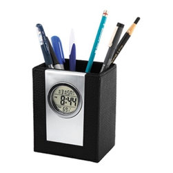 Kito - Silver and Black Pen Holder with LCD Calendar/Time/Temperature Display - This gorgeous Silver and Black Pen Holder with LCD Calendar/Time/Temperature Display has the finest details and highest quality you will find anywhere! Silver and Black Pen Holder with LCD Calendar/Time/Temperature Display is truly remarkable.