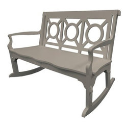 Poly Concepts Outdoor 48 in. Garden Rocking Bench with Window Back - No matter your age, a rocking chair is effortlessly soothing, and the Poly Concepts Outdoor 48 in. Garden Rocking Bench with Window Back supports your body by slightly flexing in response to your weight, providing perfect comfort without the hassle of cushions. This is not a flimsy plastic bench, though. Titanium resin construction is solid, substantial, and practically unbreakable. It's UV-, stain-, and mildew-resistant for carefree maintenance and years of durable service. The front tip of each rocker features a grip that lessens the chance of the rocker slipping backwards while someone's getting out of it. Backstops lessen the likelihood of tipping. The elegant window-back design is certain to add a lovely touch to your porch, patio, or garden. Certain to be a favorite gathering spot for friends and loved ones, you'll spend hours enjoying the beauty of nature. Available in your choice of color, some assembly required, though it goes together and can be taken apart without tools or hardware. Made in the USA.About Poly ConceptsPoly Concepts, LLC aims to unite comfort, style, and durability in environmentally-friendly ways that feature quality and virtually no maintenance. The diverse collection features an outstanding line of premium quality outdoor furniture used across many applications. Healthcare, hospitality, residential, and recreational industries enjoy the performance and satisfaction these pieces provide. Manufactured from Andure, these pieces won't experience the same weathering problems as other outdoor pieces. The titanium alloy/resin has substantial weight and won't peel, chip, fade, crack, yellow or require painting, for a lifetime of worry-free maintenance.