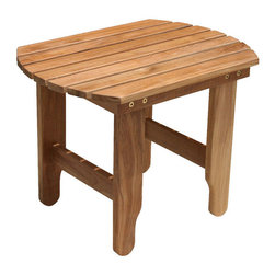 Douglas Nance - Douglas Nance Adirondack Side Table - Teak side table designed for use with any style Douglas Nance adirondack chair, or anywhere else you please.