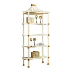 Heidi Étagère - I really love this modern beauty with a chinoiserie twist. It's chic and luxurious, and will be a showstopper in any room!