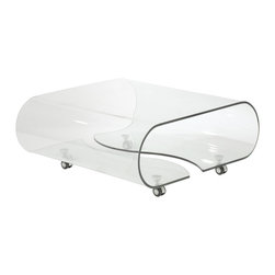 Eurostyle - Glynis Coffee Table-Clr - Clear bent glass, 12mm thick