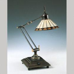 TASK LIGHTING - Pueblo Tiffany Table Task Lamp