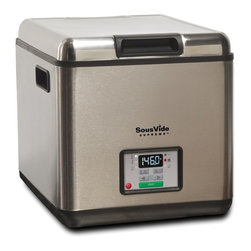 SousVide Supreme Water Oven - The award-winning SousVide Supreme is the world's first water oven designed to make the gourmet sous vide cooking technique easy and affordable. Sous vide cooking locks in the juices and flavor and preserves the nutritional quality of the food. The result is incomparable taste and texture: steak perfectly cooked edge-to-edge, vibrant vegetables, juicy tender chicken, and ribs with the meat literally falling off the bone. All at the push of a button. FREE SHIPPING within the mainland US.